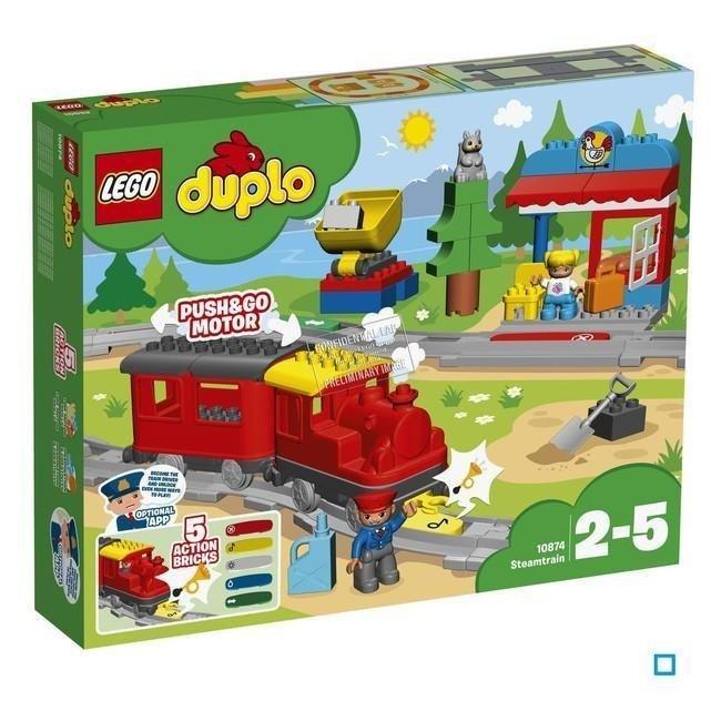 Lego Duplo Pociąg Parowy 10874 Marki Lego Klocki Lego Duplo